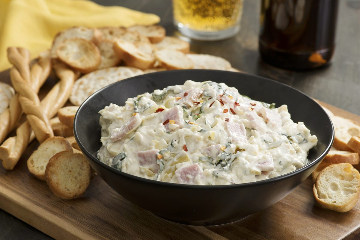 Slow-Cooker Ham, Spinach and Artichoke Dip