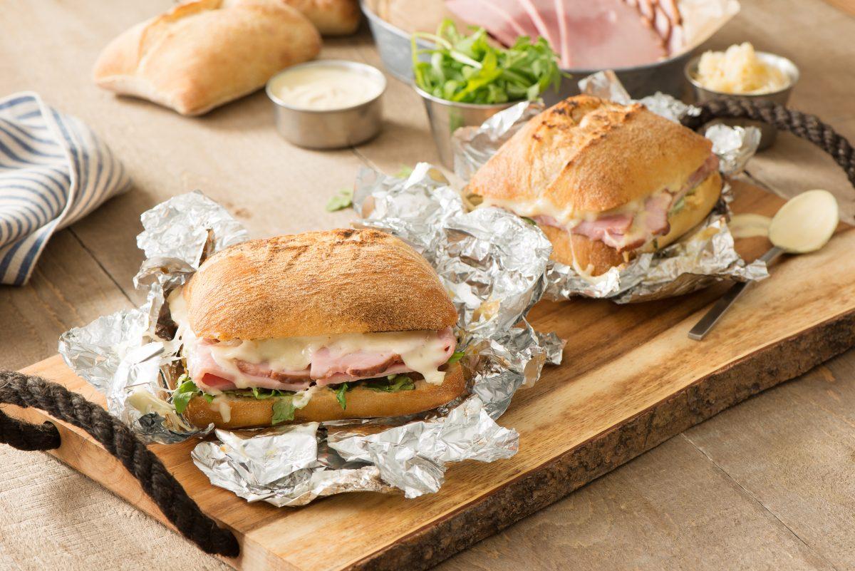 Ham and Sauerkraut Campfire Sandwich
